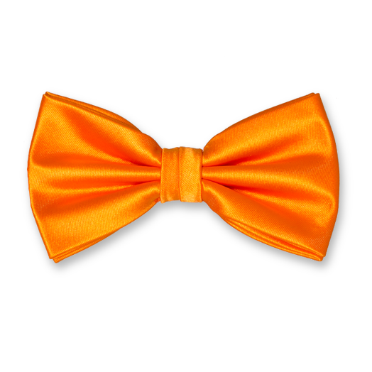 Nœud Papillon Orange en Satin de Polyester (1)