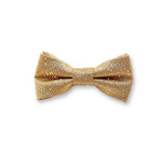 Noeud Papillon Enfant - Paillettes d'or (1)