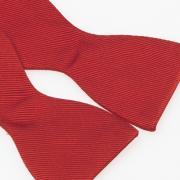 nœud papillon à noeur rouge tomate - détail