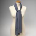 Foulard en polyester gris foncé