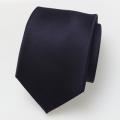 Cravate en soie bleu foncé